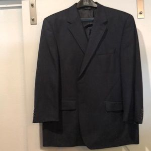 Jos A Bank Navy chevron suit jacket. 48R. EUC!